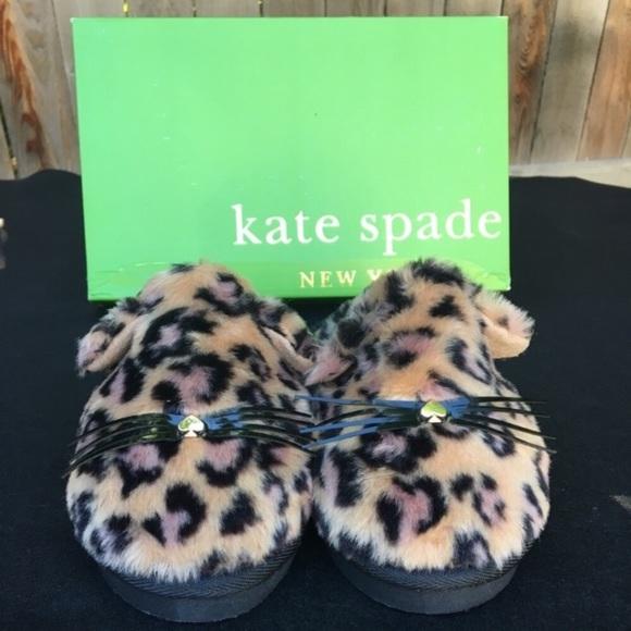 f574a1c7fb4c KATE SPADE Belindy Kitty Leopard Print Slippers